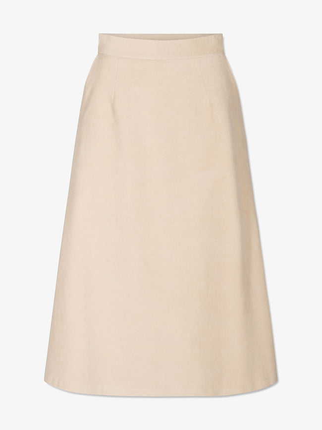 BETTY MOLESKIN SKIRT - BEIGE