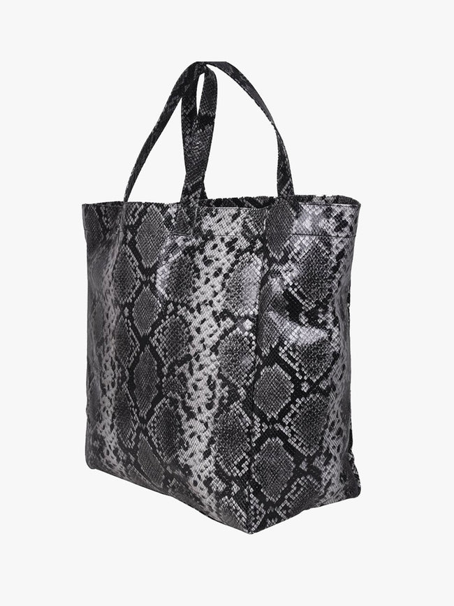 LARGE SNAKE TOTE - GREY