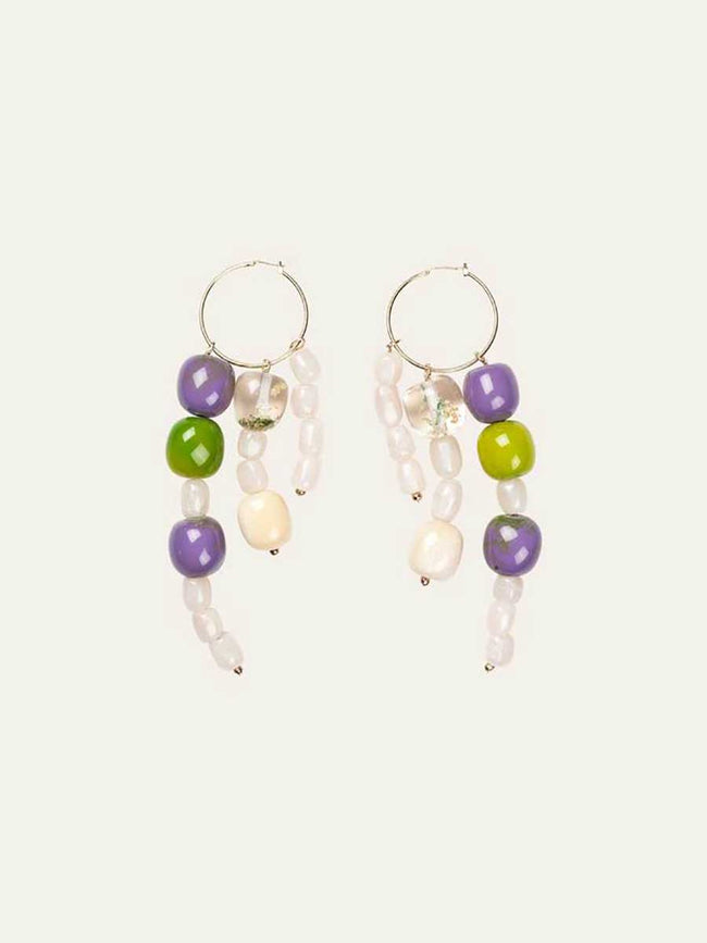 BOBBY EARRINGS - LIME