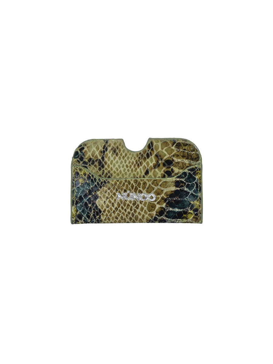 CARLA OLIVE GREEN CARD WALLET