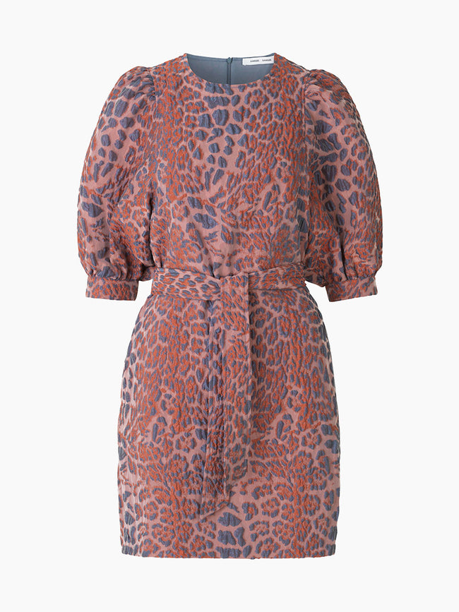 CELESTINA SHORT DRESS - MECCA LEOPARD