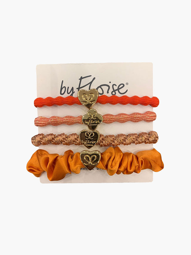PACK OF 4 HAIRBANDS - CORAL