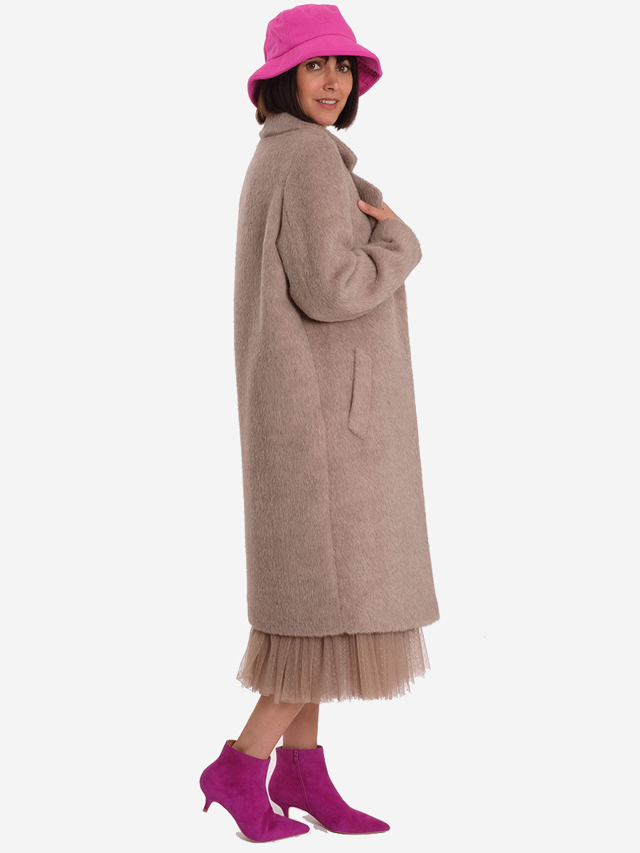 DONE ALPACA COAT - BEIGE