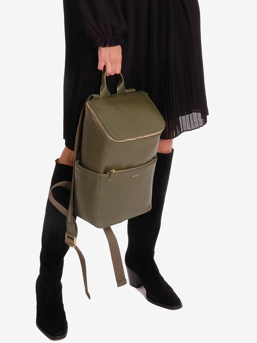 BRAVE VEGAN BACKPACK - LEAF GREEN