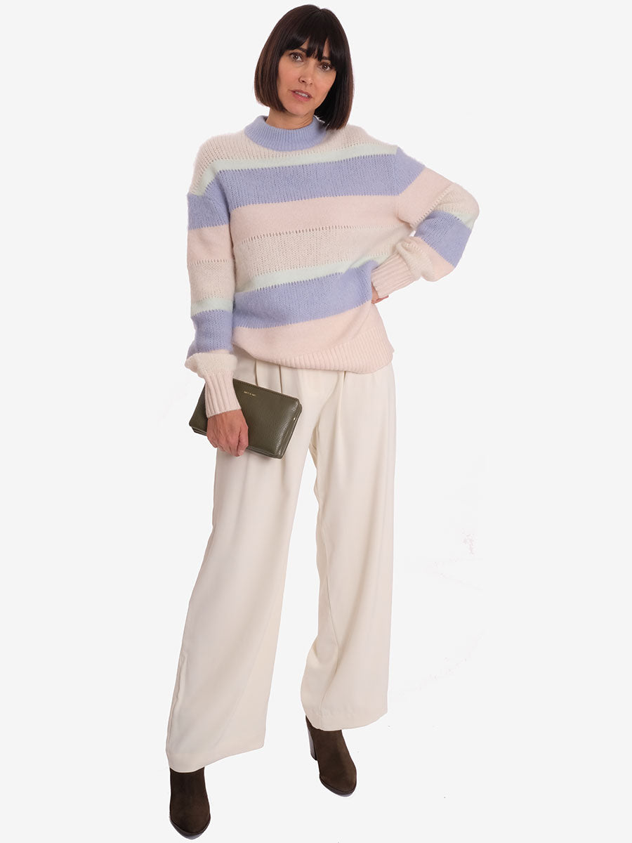 MELLA TROUSERS - WHITE ASPARAGUS