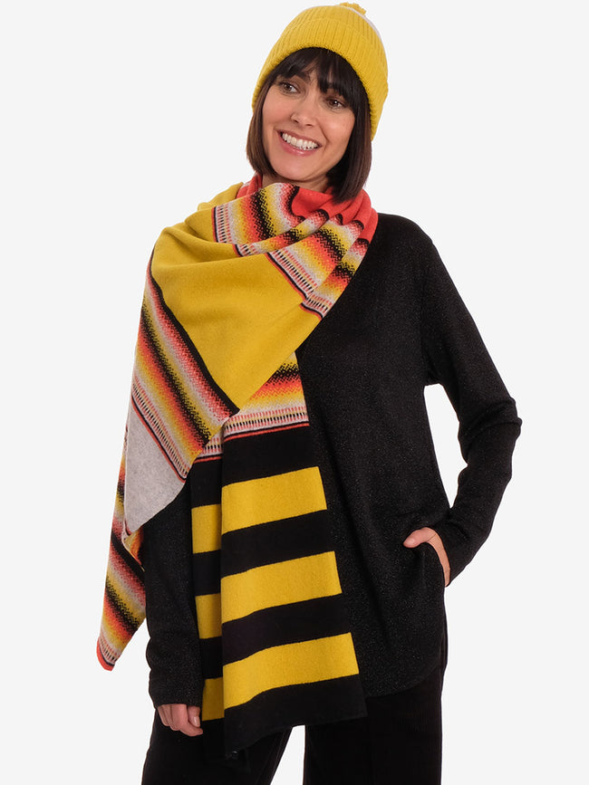 MERINO WOOL OMBRE SCARF - TEX MIX