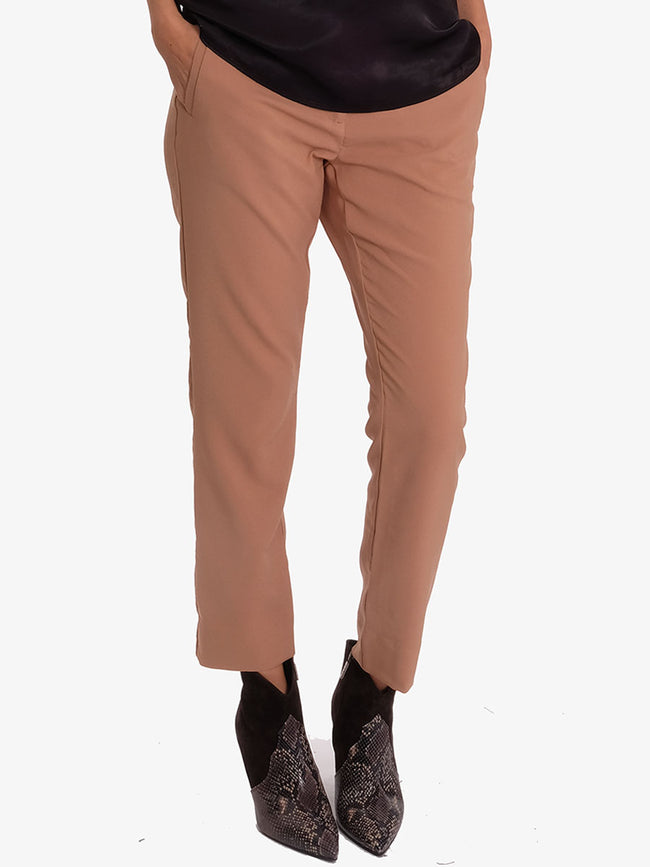 HELENA 2 SLIM TROUSERS - CAMEL