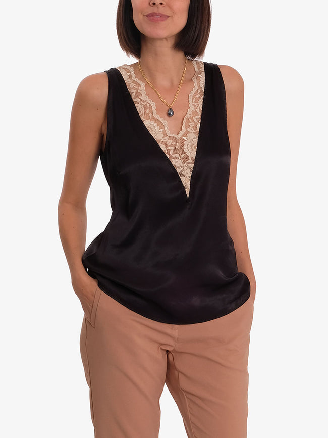 FLORENCE15 TOP - BLACK