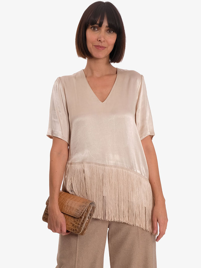 FLORENCE 12 BLOUSE - BEIGE