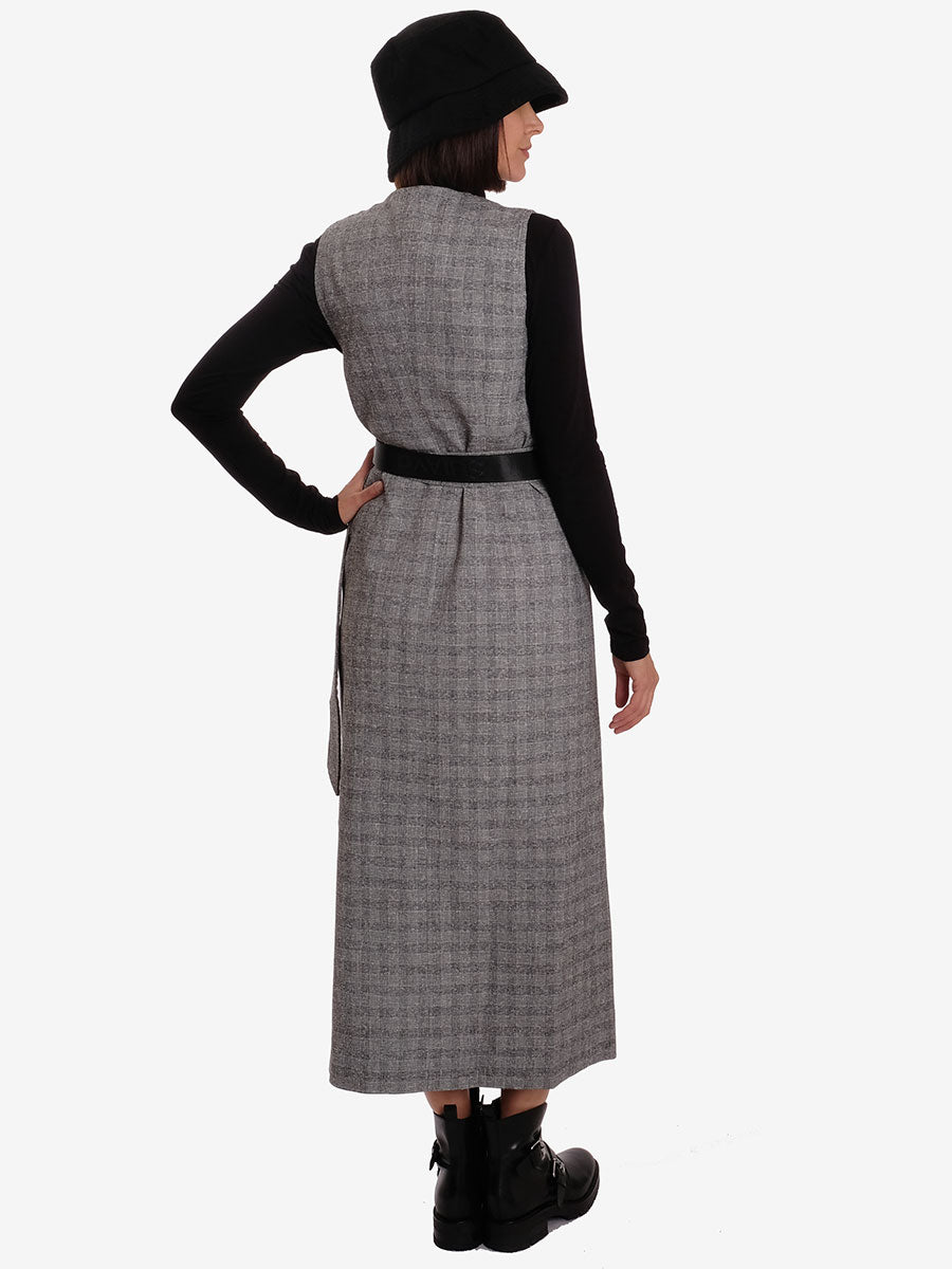 LIGHT SUITING DRESS- CHARCOAL