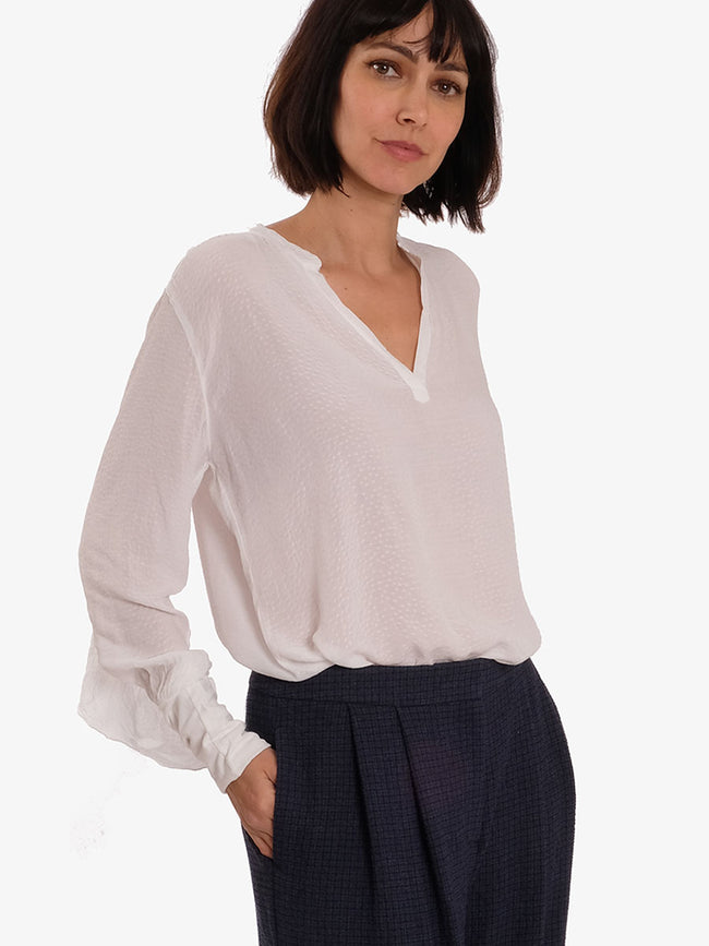 DITTE BLOUSE - CHALK