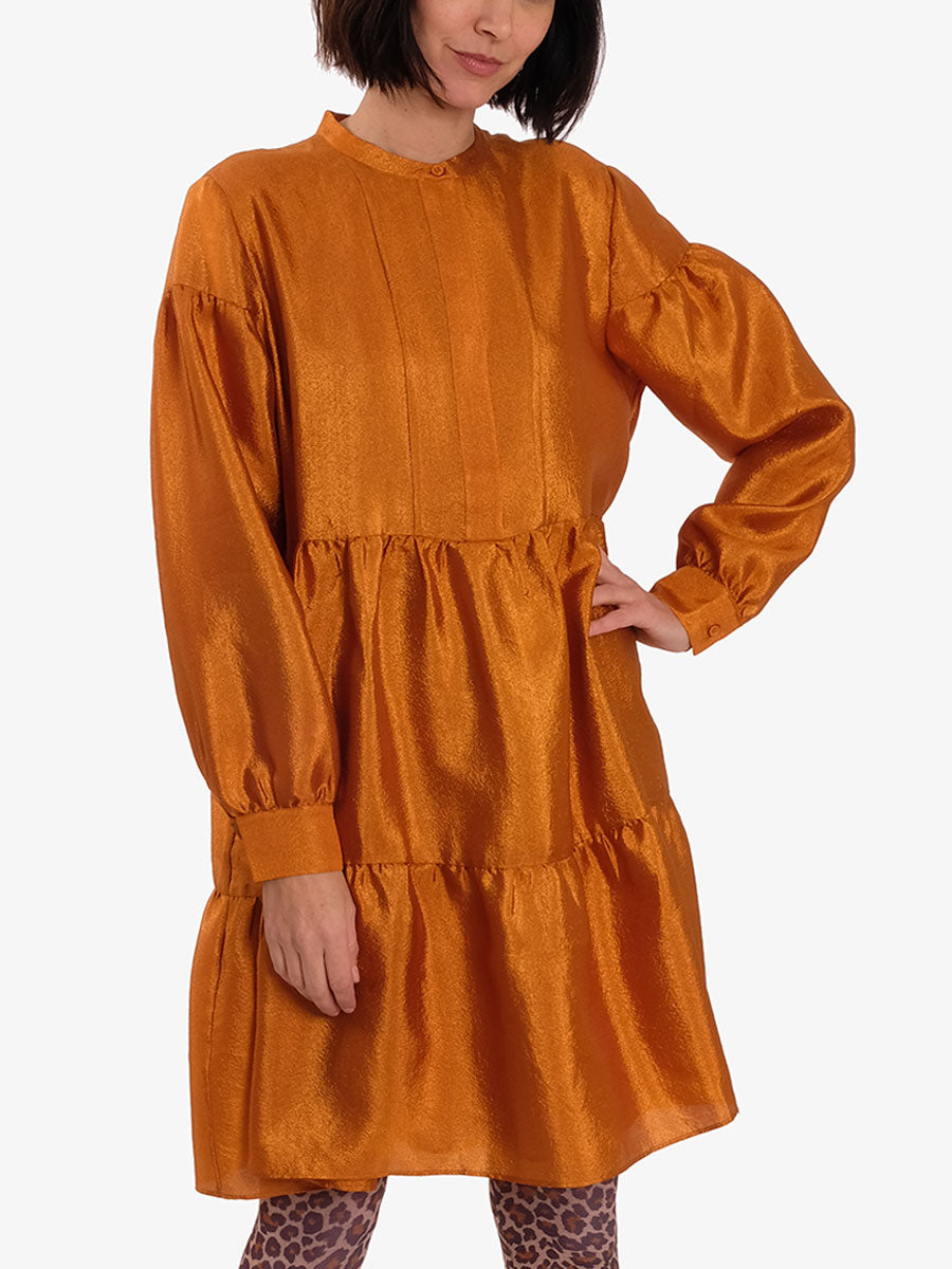 MARGO SHIRT DRESS - HONEY GINGER