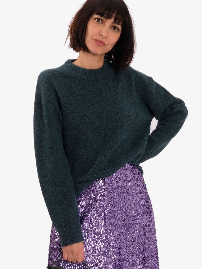ANOUR JUMPER - SEA MOSS