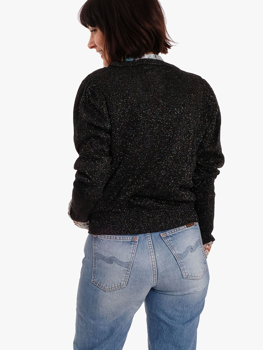 SILJA KNITTED BLOUSE - BLACK