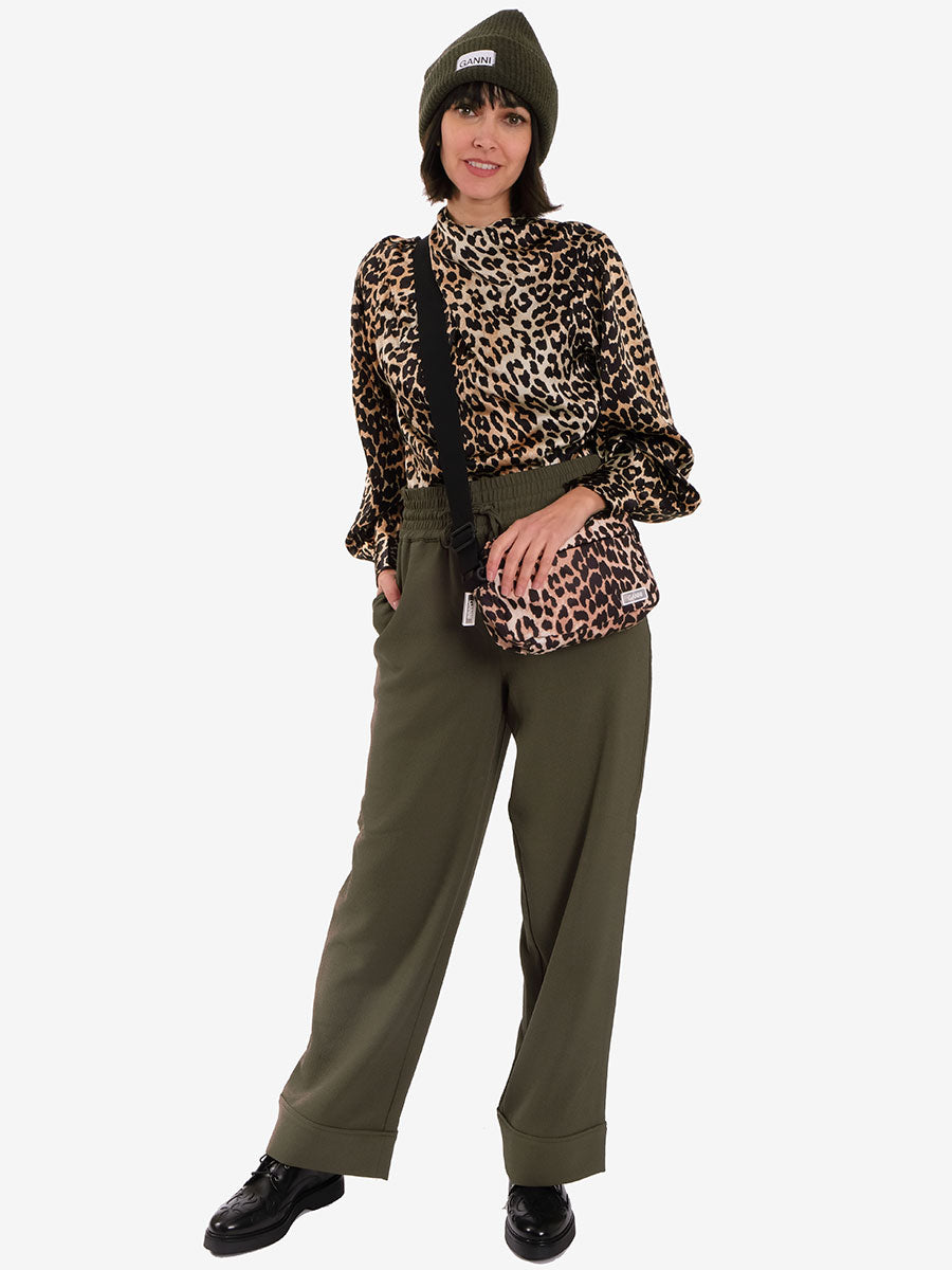 HEAVY CREPE WIDE TROUSERS - KALAMATA