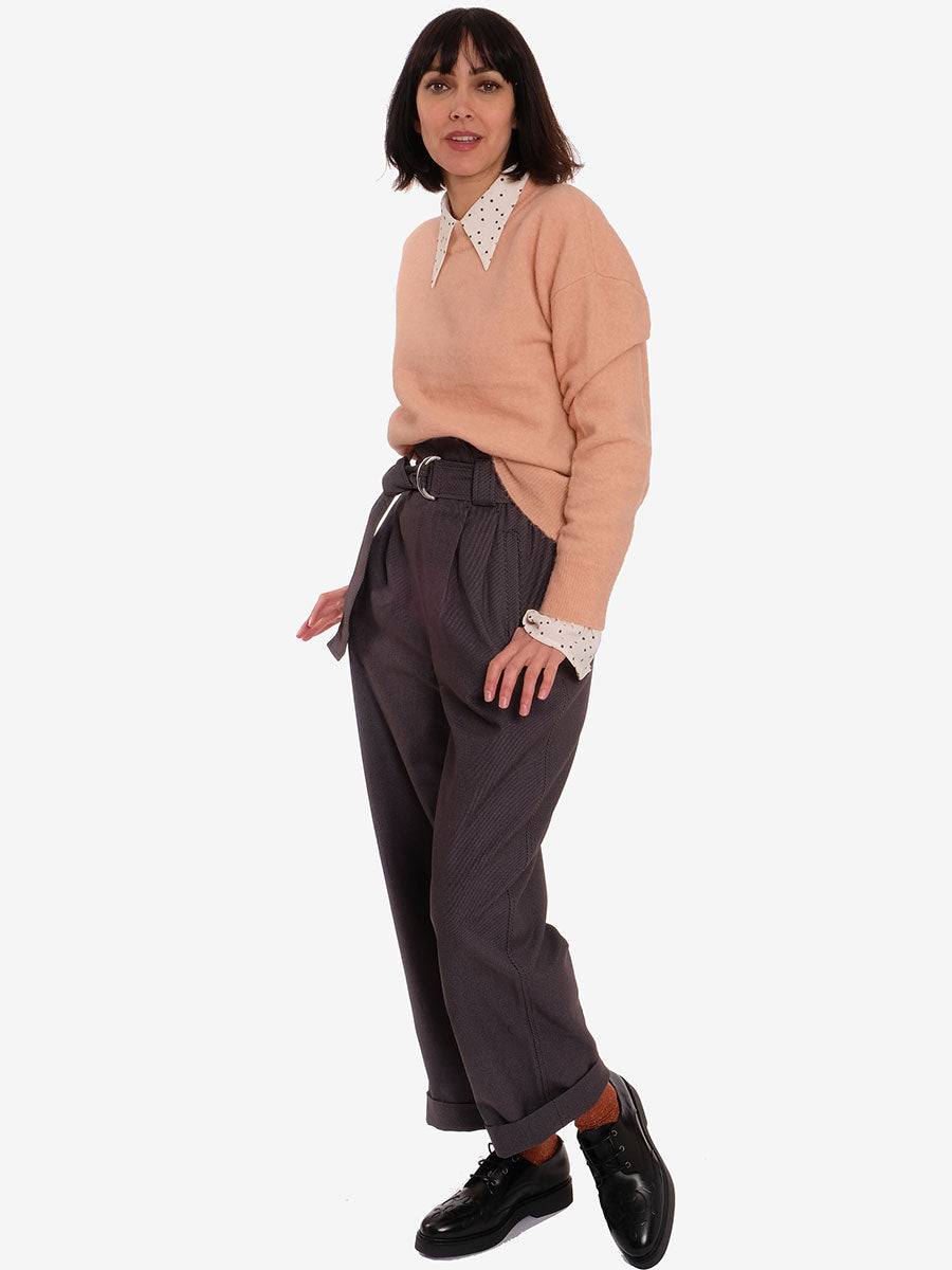CHINO BELT PANTS - PHANTOM