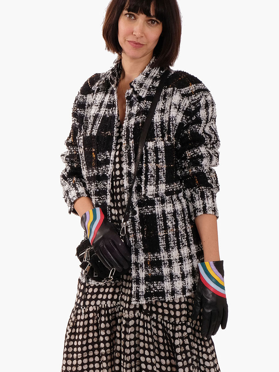 GILJO BLACK & WHITE SHIRT-JACKET