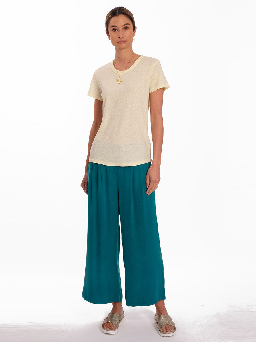 GANDA CUPRO WIDE LEG TROUSERS