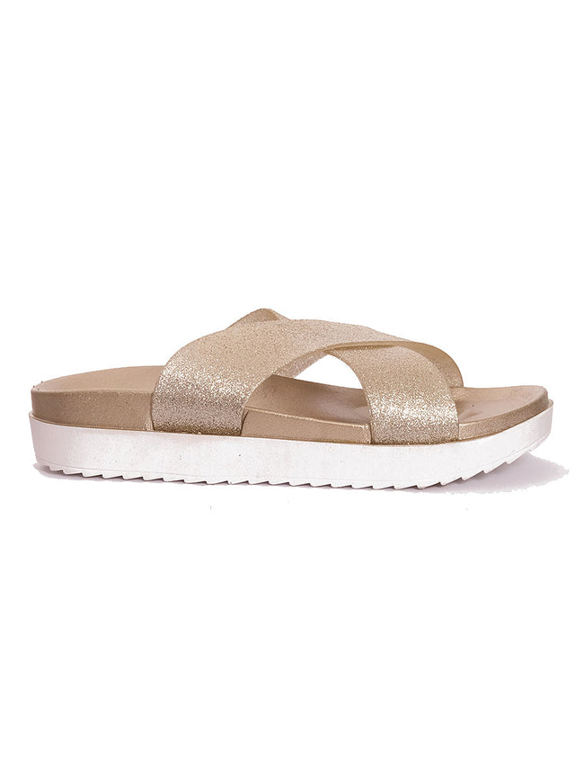 CROSS STRAP BEACH SANDALS