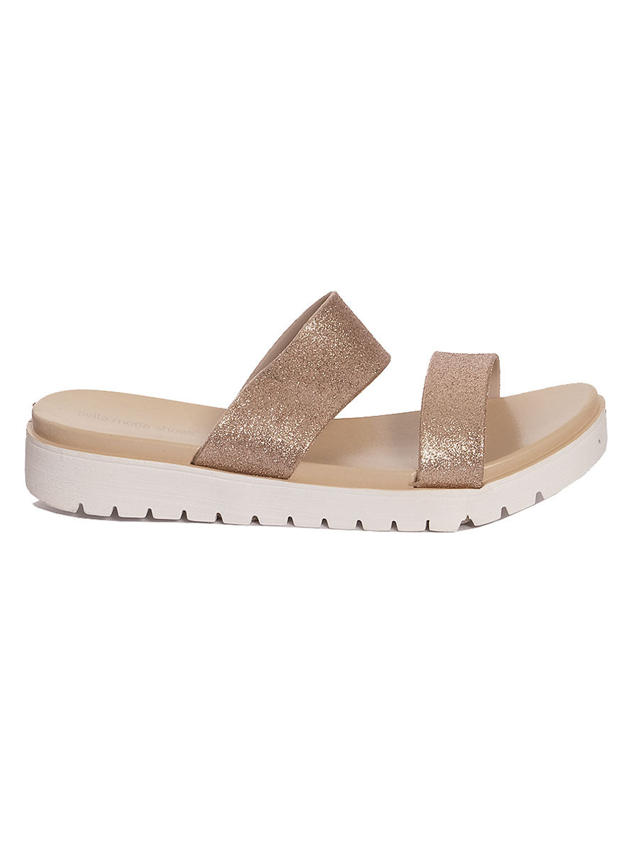DOUBLE STRAP BEACH SANDALS BEIGE