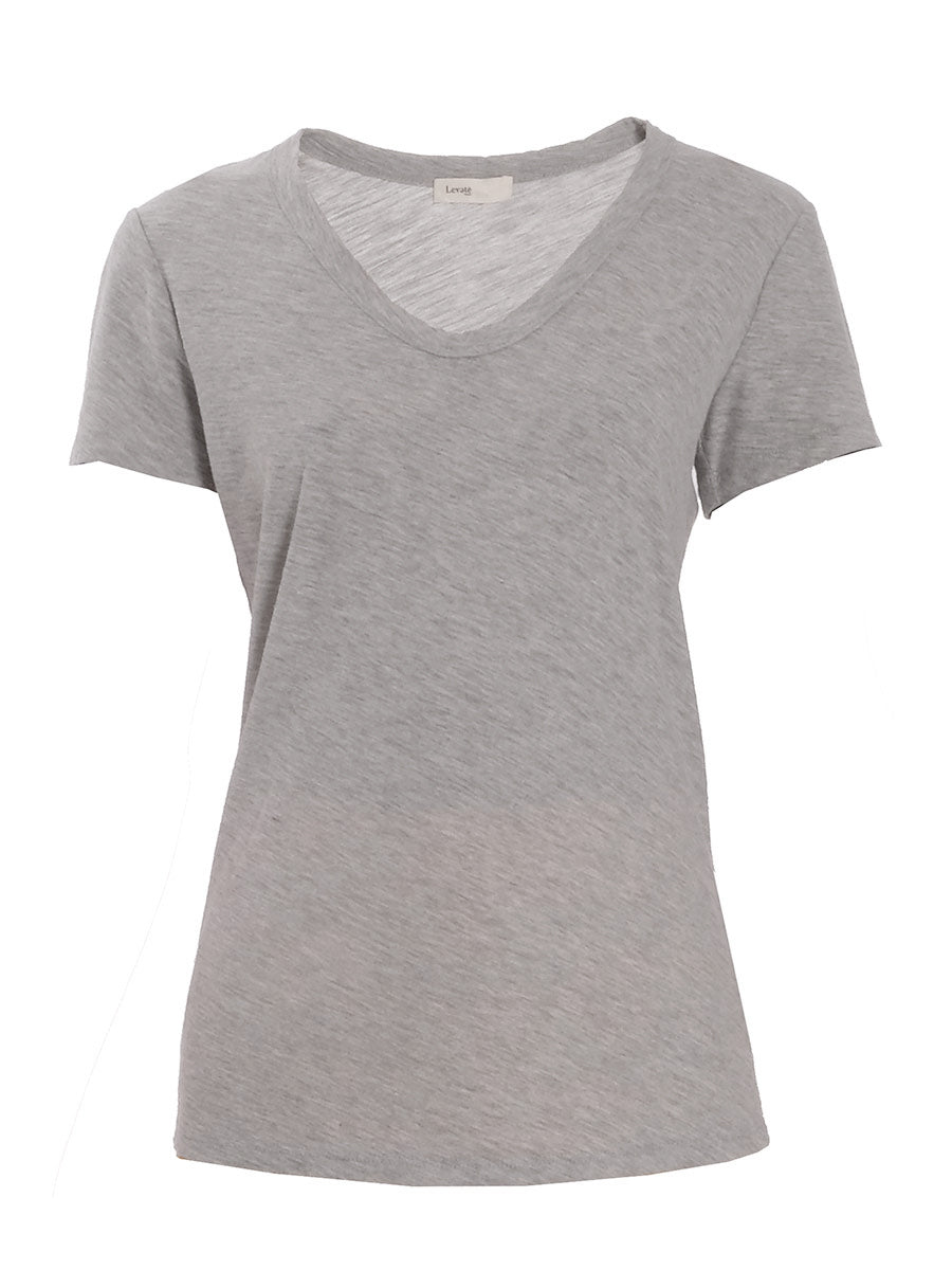 ANY2 SCOOP NECK TSHIRT - GREY