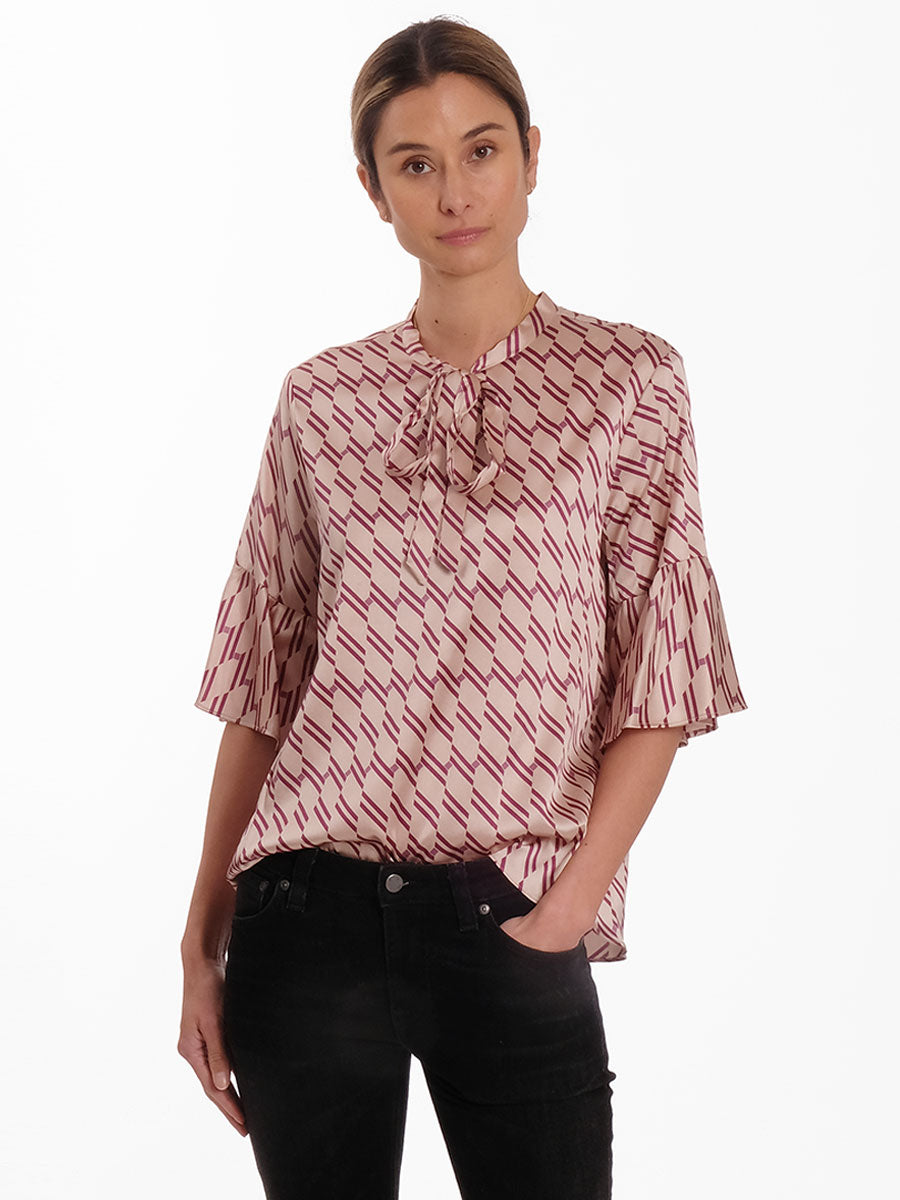 DAKOTA RETRO PRINT BLOUSE