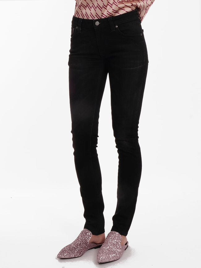 SKINNY LIN JEANS - BLACK SHADOW