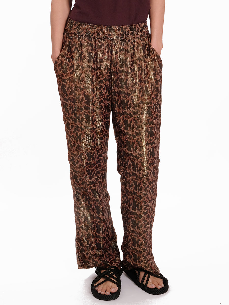 SUSIA SHIMMER PRINT TROUSERS