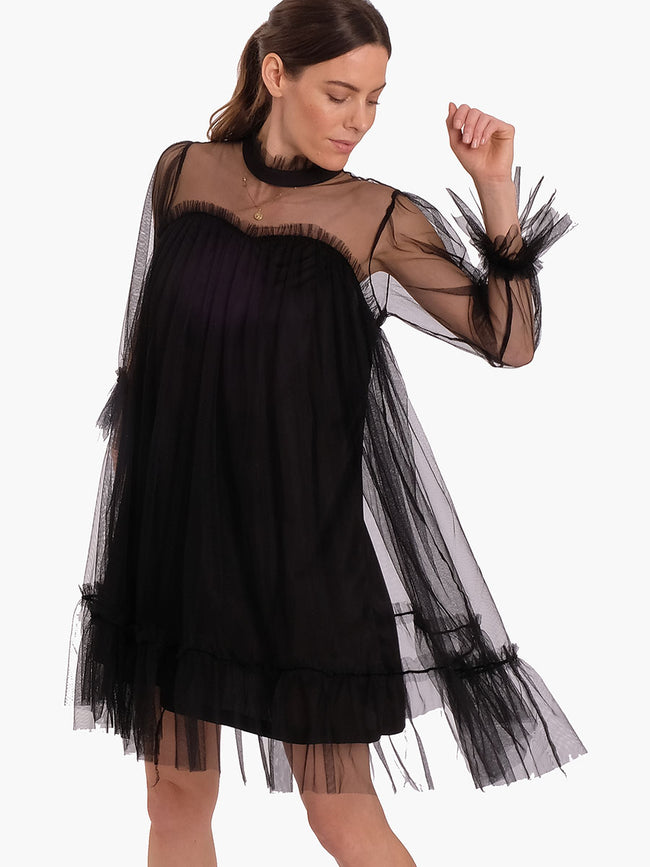 CAMILLE TULLE DRESS BLACK