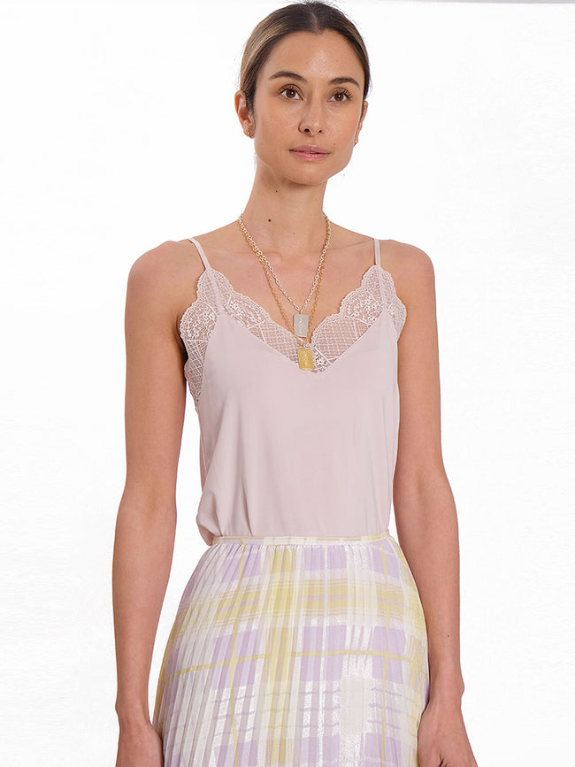 LINDA LUXE LACE CAMISOLE