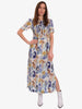 ADAMARIS SMOCK DRESS - WHITE BLUE FLORAL BLUR