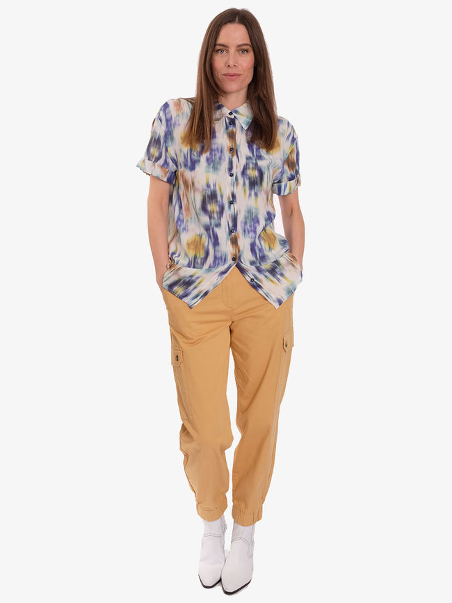 NAJAH CARGO TROUSERS - NEW WHEAT YELLOW