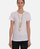 TAHITI LONG CHUNKY SHELL NECKLACE