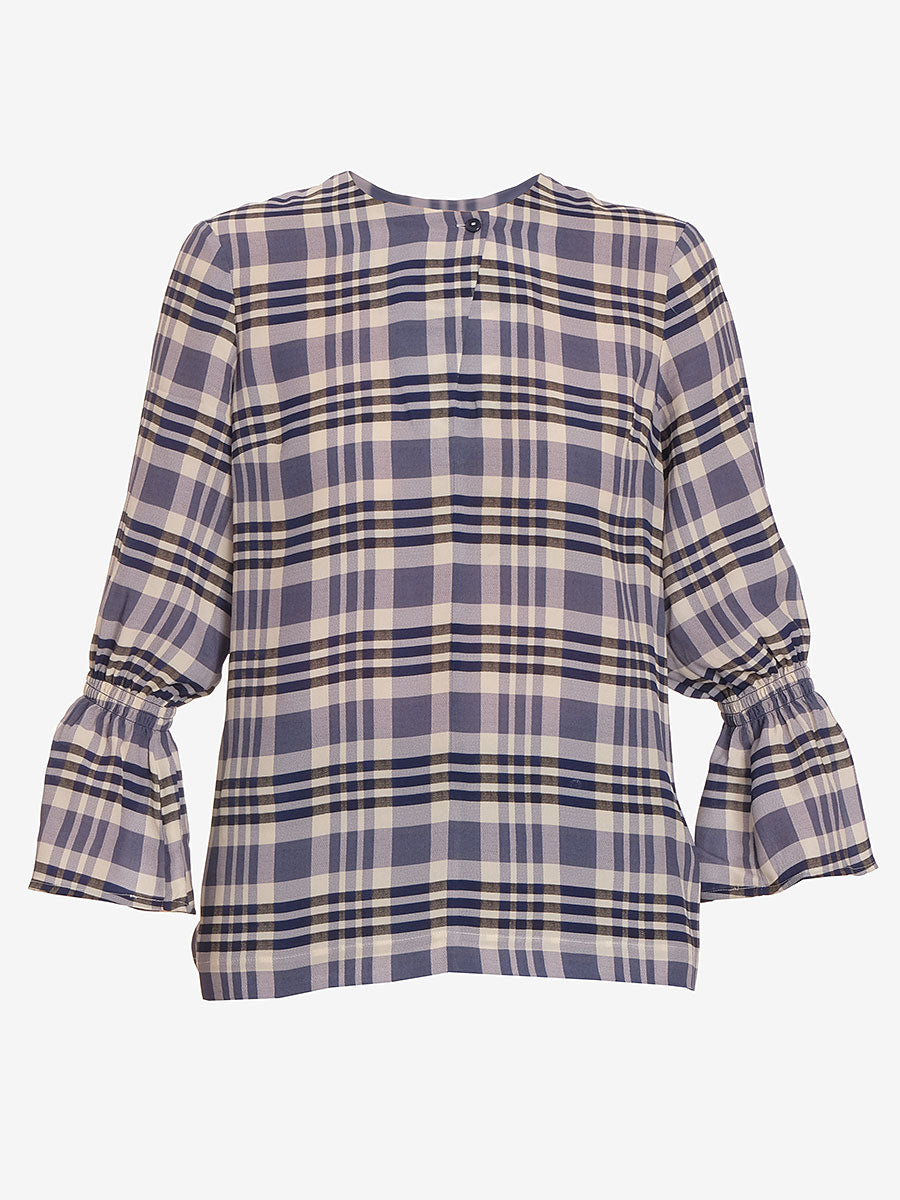 MADESSA TOP - WHITE NAVY CHECK