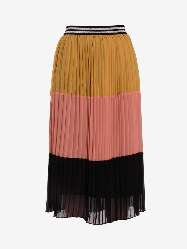 SIXANO PLEATED MIDI SKIRT - CORN YELLOW