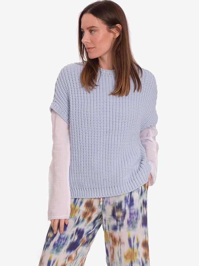 ANGEL DROP SHOULDER JUMPER - LIGHT BLUE