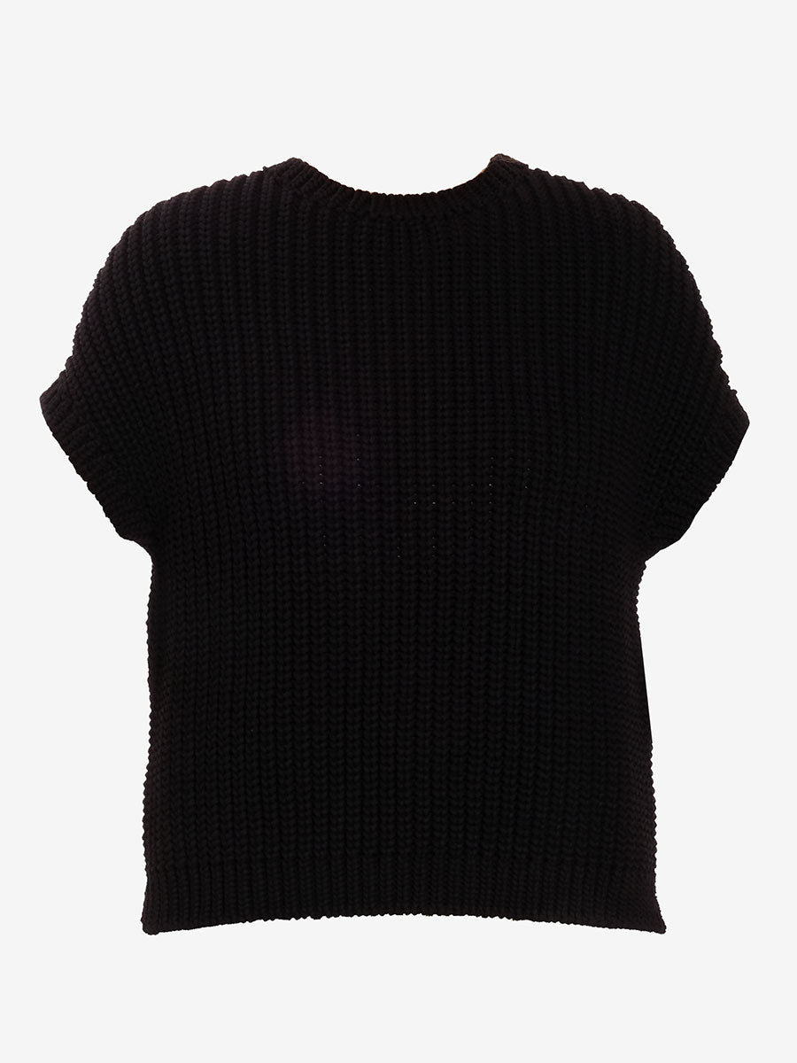 ANGEL DROP SHOULDER JUMPER - BLACK