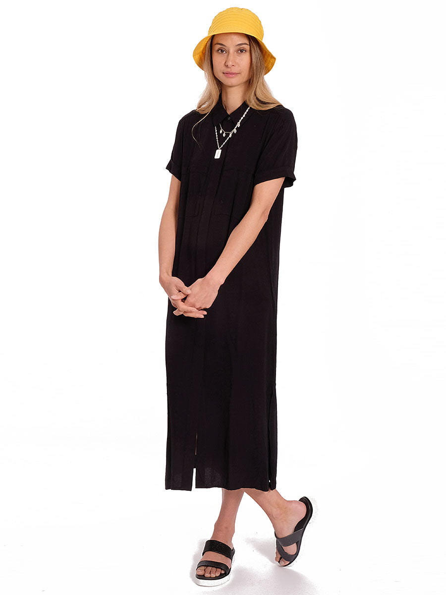 BERTA TEXTURED SHIRT DRESS