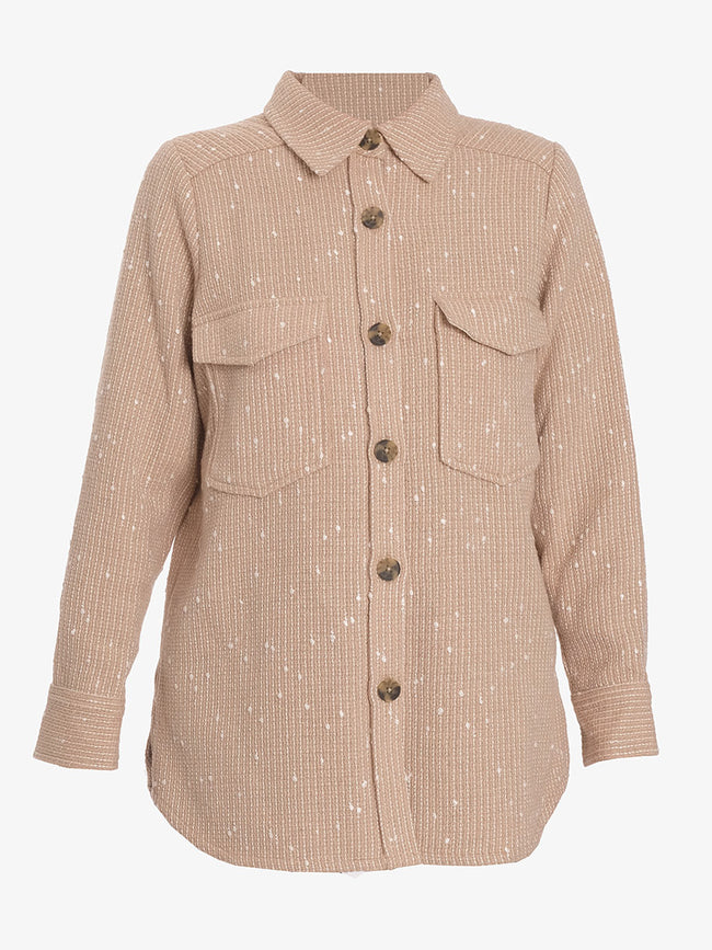 ICIA TEXTURED SHIRT - CUBAN SAND