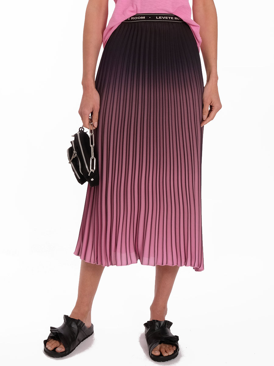 FABIANA OMBRE PLEAT LOGO SKIRT