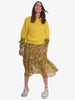 KIOMRA SHORT SLEEVE JUMPER - YELLOW