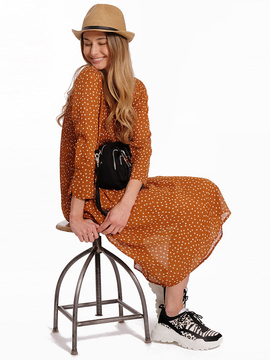 ELM POLKA DOT SHIRT DRESS