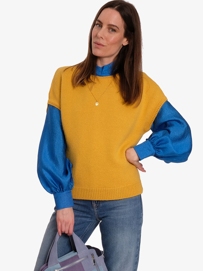 ASPEN SLEEVELESS JUMPER - YELLOW