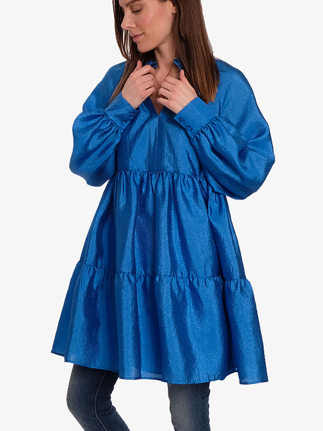 JASMINE TIERED DRESS - BLUE