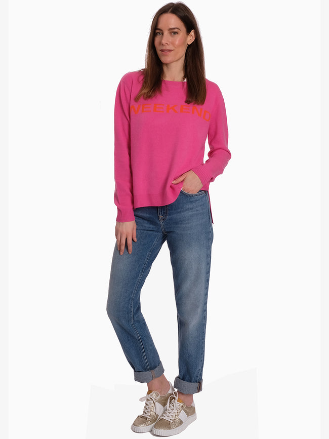 WEEKEND CASHMERE JUMPER - PINK