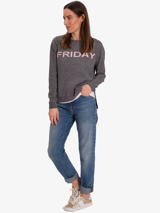 FRIDAY CASHMERE JUMPER - GREY