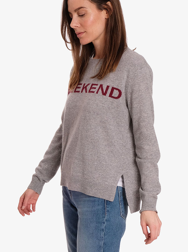 WEEKEND CASHMERE JUMPER - GREY