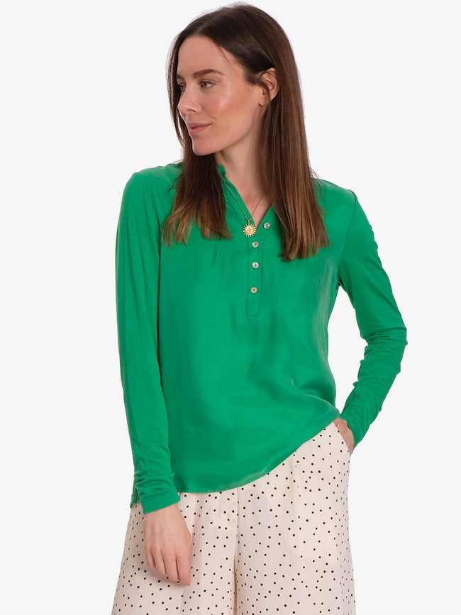 LOLITA LONG SLEEVE BLOUSE - GREEN
