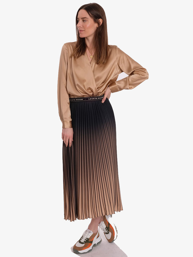 FABIANNA OMBRE PLEATED SKIRT - CUBAN SAND