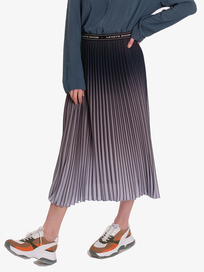 FABIANNA OMBRE PLEATED SKIRT - LIGHT BLUE